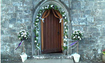 wedding arches for outside the church