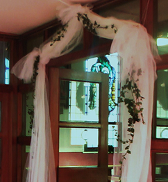 wedding arches with flowers inside