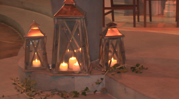 tealights in traditional candle holders
