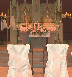 ivory and white church covers