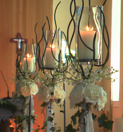 candles for church decoration mayo