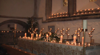 tealights for the alter and around the church